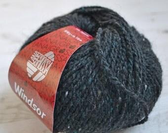 Knitting  yarn, Destash yarn, black yarn, Aran weight, Y192