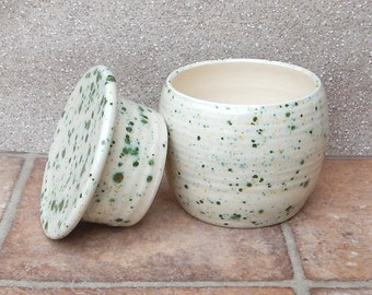 French butter dish crock keeper beurrier hand thrown pottery ceramic
