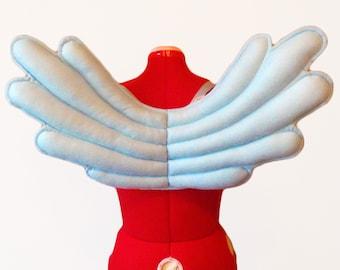 Light Blue Pegasus Wings. Qulaity Construction, Durable.