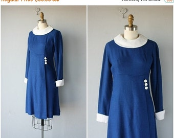 25% OFF SALE... Vintage 60s Dress | 1960s Day Dress | Vintage 1960s Dress | Navy Blue Dress 60s