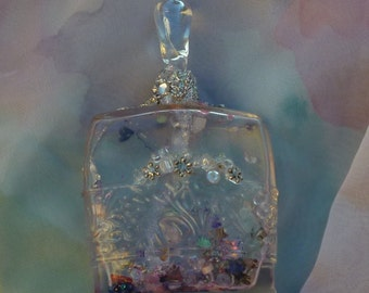 Altered Bottle, Spirit Jar, Teardrop Jar by mystic2awesome