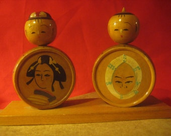 Vintage Japanese Kokeshi Wedding Cake Topper