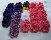 Custom order for Karen crochet flowers 1.5 inch