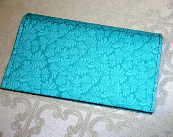 Fabric Checkbook Cover/ Holds Your Checks/ Register Book and Pen