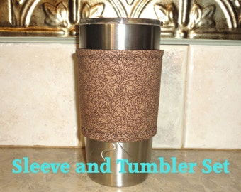 Cozy Cup Cover in Fabric/ Includes the 20 Ounce Stainless Cup