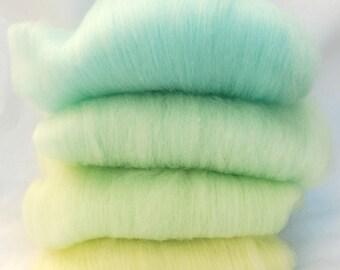 Polwarth/Silk Baby Boy Spinning Batts - 4 ounces