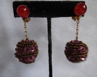 Vintage Sequins Drop Earrings