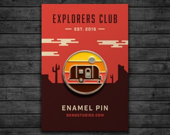 Explorers Club: Camper Enamel Pin