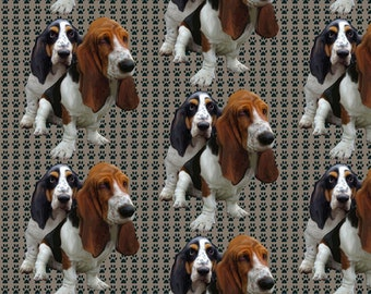 Basset Hound Dog Breed Fabric