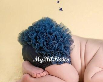 Navy Blue baby bloomer,  Ruffle bloomer Ruffle Diaper Cover, Ruffle Bum Bloomer ,Baby Girl Bloomer, newborn bloomer,Photo Prop-ready to ship