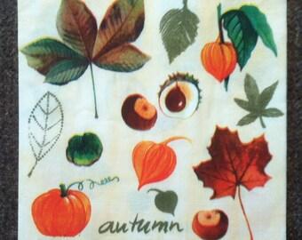 PN-112. Autumn Paper Napkins Halloween Paper Napkins for Decoupage Napkins for Art Luxury Design Napkins DECOUPAGE SERVIETTE