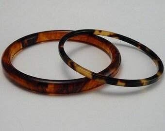 Vintage TortoiseShell Bakelite & Lucite Bracelets
