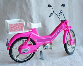 Barbie motorbike, bike 1983, pink, makes motorsounds, barbie accessory