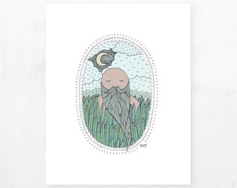 The Dreamer | Illustrated Print