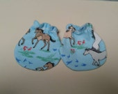 ON SALE Pretty Horses Baby Mitts