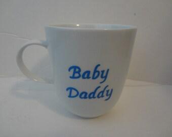Baby Daddy mug, handpainted mug, personalized mug, new dad cup, new dad mug,