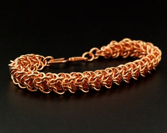 Wood Elf Bracelet Kit - Chainmaille - Fun for Any Skill Level - Choice of Solid Metals