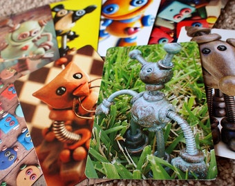 Robot Art Print Postcard SET OF 4