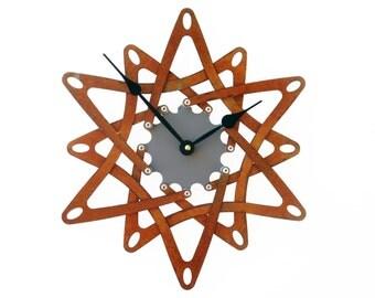 Pinwheel II, Medium Wall Clock, Rusted Wall Clock, unique wall clock, modern wall clock, steampunk wall clock, industrial clock