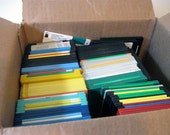 Vintage 3 1/2 Floppy Disk - Black, Yellow, Red, Green