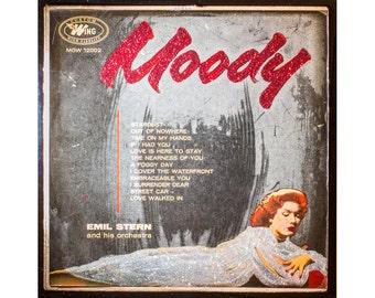 Glittered Moody Record Album Cover Art