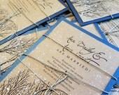 Winter wedding invitations for Ann