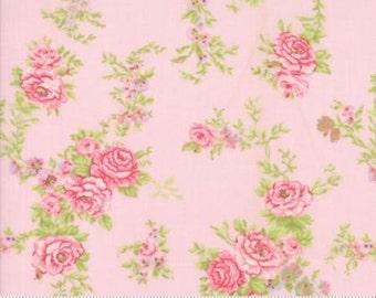 FLEURS-  by Brenda Riddle Designs .. Rose Garland in Peony..   Moda fabric 18630-15