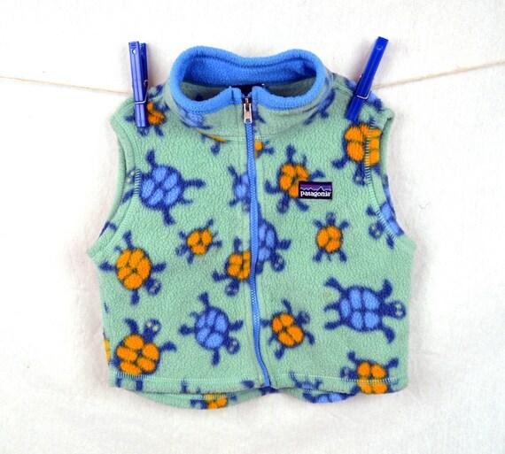 Vintage 90s Turtle Patagonia Fleece Vest Baby Size 18