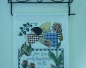 RESERVED FOR MINDYWO  Summer Angel Banner Completed on Decorative Wire Hanger