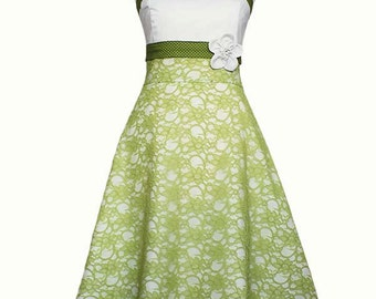 MERLE - Wedding dress, dress, light green, lime green, cream, white, green, lace dress, evening dress, wedding, lace, bridesmaid dress
