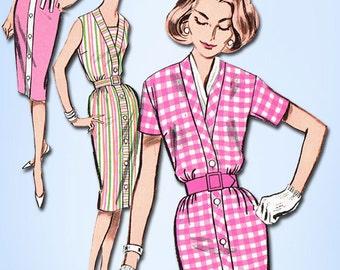 1960s Vintage Butterick Sewing Pattern 9723 Uncut Easy Misses Dress Size 16 36 B
