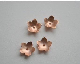 SALE Petal Earring Jackets in Rose Gold