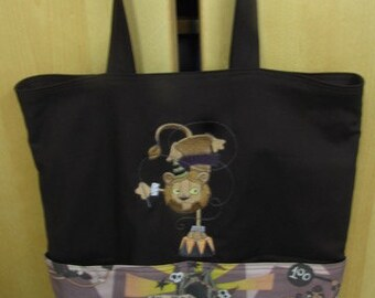 Circus Performing Lion Eco Friendly Tote Purse Bag