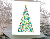 Personalized Christmas Cards, Personalized holiday cards - Christmas Tree with Ornaments Folded Cards