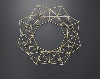 """BRUMA - 22"""" Modern Geometric Wreath - Himmeli"""