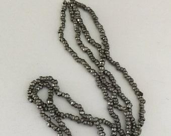 RARE - Antique Steel Cut MICRO Beads  - 2 strands