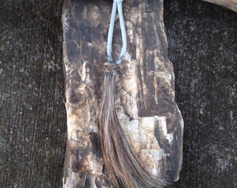 Extra Large Horsehair Tassel - Gray Horsehair