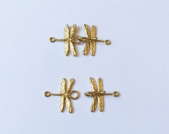 Brass Dragonfly Hook and Clasp