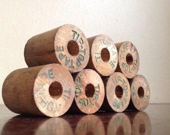 Tip Top Wooden Tape Rolls / Spools. Industrial Craft Supplies.