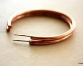 Hoop Earrings, Large Hoop Earrings, Open Copper Hoops