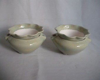 Ceramic African Violet Pot/ Planter/ Extra Small No. 2 ( Set of 2 )