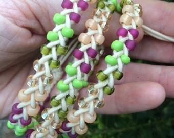 Beaded Triple Wrap Bracelet