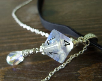 D10 dice choker D10 dice pendant D10 dice necklace pathfinder jewelry dnd rpg geek dungeons and dragons choker geek jewelry chessex dice
