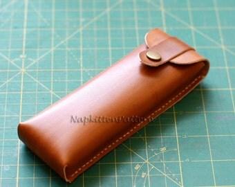 leather pen case pattern, leather pen sleeve pattern, Leathercraft Pattern, leather pattern, leather bag sewing pattern, Napkitten Pattern