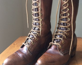 Vintage Leather Boots Women's sz 6