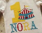 Circus Birthday Shirt, Circus Boy Birthday, Circus Girl Birthday, Circus Personalized Birthday, Circus Tent Shirt, Circus Party