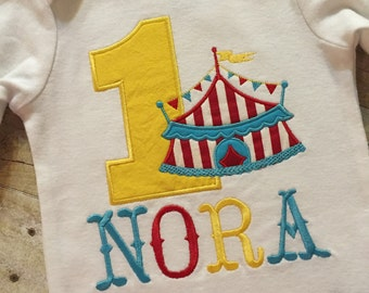Circus Birthday Shirt, Circus Boy Birthday, Circus Girl Birthday, Circus Personalized Birthday, Circus Tent, Circus Party, Circus Custom