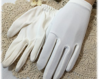 Vintage Ladies Ivory Fauntex Hands Off Gloves, Fingerless Opera Gloves, Van Raalte, 1940s, Size 6, Rare