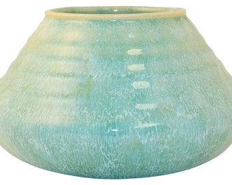 Roseville Pottery Imperial II Turquoise Bowl 201-4