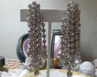 Old Stock SALE STUNNING Vintage Estate High End Dangle Drop Long Earrings